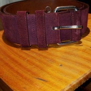 Club Monaco leather suede belt